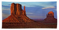 East And West Mitten Buttes In Monument Bath Towel