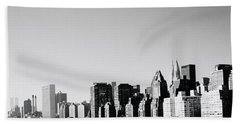 East River New York Bath Towel by Shaun Higson