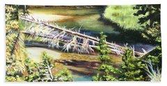 East Rosebud Inlet Stream Bath Towel by Patti Gordon