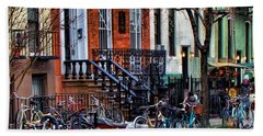 East Village Bicycles Bath Towel