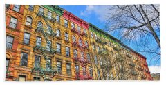 East Village Buildings On East Fourth Street And Bowery Hand Towel