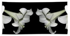 Easter Lilies Panorama Bath Towel