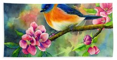 Eastern Bluebird Bath Towel