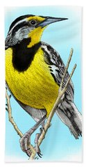 Eastern Meadowlark Hand Towel by Roger Hall