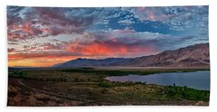 Eastern Sierra Sunset Bath Towel