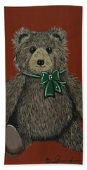Bath Towel featuring the painting Easton's Teddy by Jennifer Lake