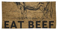Eat Beef Bath Towel