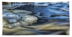 Eau Claire River Ice Hand Towel