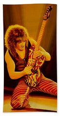 Eddie Van Halen Painting Hand Towel by Paul Meijering