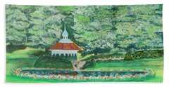 Hand Towel featuring the painting Eden Park  Cincinnati Ohio by Diane Pape