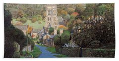 Edensor, Chatsworth Prak, Derbyshire, 2009 Oil On Canvas Hand Towel