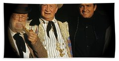 Bath Towel featuring the photograph Edgar Buchanan Chills Wills  Johnny Cash Porch Old Tucson Arizona 1971-2008 by David Lee Guss