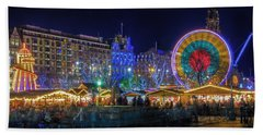 Edinburgh Christmas Market Bath Towel