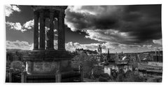 Edinburgh From Calton Hill Hand Towel