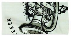 Eeeeeeek! Ink On Paper Hand Towel by Brenda Brin Booker