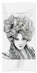 Effie Trinket - The Hunger Games Hand Towel by Fred Larucci