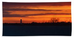 Egmont Key Lighthouse Sunset Hand Towel by Paul Rebmann