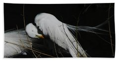 Egret Bird City At Avery Island Louisiana Hand Towel