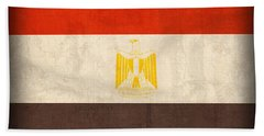 Egypt Flag Distressed Vintage Finish Hand Towel