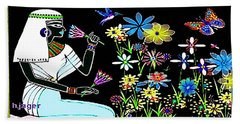 Egyptian Flower  Garden Bath Towel by Hartmut Jager