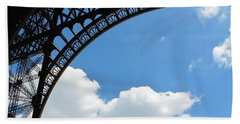 Eiffel Clouds Hand Towel