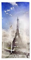 Eiffel During Summer Hand Towel