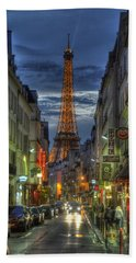 Eiffel Over Paris Hand Towel