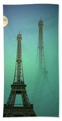 Eiffel Tower Bath Towel by Joyce Dickens