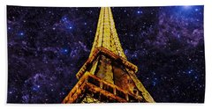 Eiffel Tower Photographic Art Bath Towel