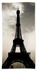 Eiffel Tower Silhouette Hand Towel