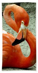 Figure Eight Flamingo Hand Towel