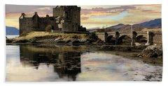 Eilean Donan Castle Scotland Bath Towel by Jacqi Elmslie