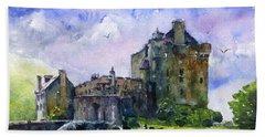 Eilean Donan Castle Scotland Hand Towel