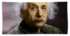 Einstein Explanation Hand Towel