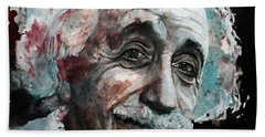 Einstein  Bath Towel by Laur Iduc