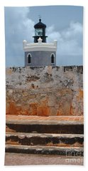 El Morro Light Tower Bath Towel