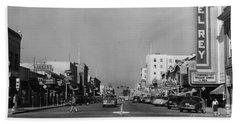 El Rey Theater Main Street Salinas Circa 1950 Hand Towel