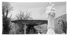 El Santuario De Chimayo Sculpture Garden 2 Bath Towel