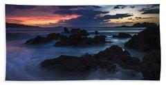 Hand Towel featuring the photograph El Villar Beach Galicia Spain by Pablo Avanzini