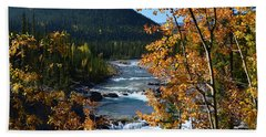 Elbow River View Bath Towel by Cheryl Miller