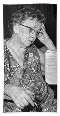 Elderly Woman At Hospital Hand Towel