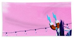 Electric Pink Hand Towel by Valerie Reeves