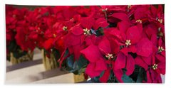 Elegant Poinsettias Bath Towel