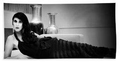 Elegant Seduction Film Noir Bath Towel