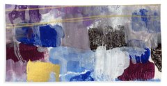 Elemental- Abstract Expressionist Painting Bath Towel