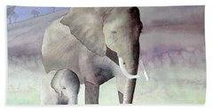 Elephant Family Bath Towel by Laurel Best