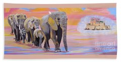 Elephant Fantasy Must Open Hand Towel