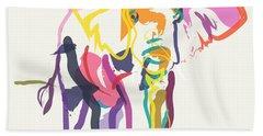Elephant In Color Ecru Hand Towel