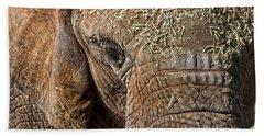 Elephant Never Forgets Hand Towel by Miroslava Jurcik