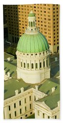 Elevated View Of Dome Of Saint Louis Hand Towel